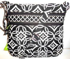 f7c0070056aa Buy Vera Bradley Petite Double Zip Hipster Crossbody Bag Zebra online
