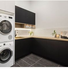 laundry room, to wash and fold your clothes, basement diy organization decor - Small laundry room ideas #basementideas #laundyroom