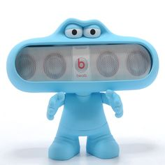 Beats Pill Character Neon Blue Beats by Dre Dude Stand For Pill ...