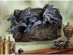 Morgoth Castle Dragons Wall Sculpture