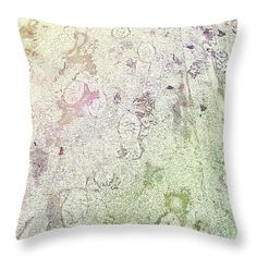 Iced Throw Pillow by Shelly Weingart