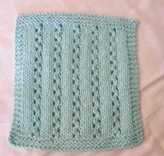 Free knit dishcloth pattern