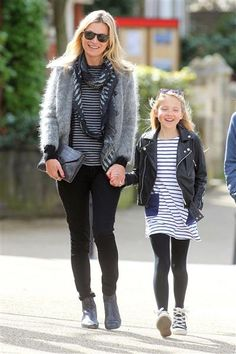 Kate Moss and her daughter Lila are matching in stripes. See more photos of stars with their kids on Wonderwall: http://on-msn.com/HPyflq