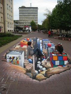It's games galore with this interactive #FloorGraphic which was created by using Asphalt Art.