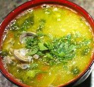 Zuppa di broccoli, ceci e vongole. Demetra e Poseidone ti proteggeranno
