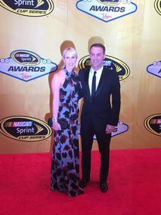 Last years Championship couple, Kevin & Delana Harvick. at the 2015 Sprint Cup Banquet.