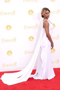Laverne Cox attends 66th Annual Emmy Awards on August 24 in Marc Bouwer