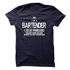 I Am A Bartender T Shirts, Hoodies. Check price ==► https://www.sunfrog.com/LifeStyle/I-Am-A-Bartender-44493894-Guys.html?41382