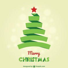 Weihnachtskarte mit grünen Spitze Baum