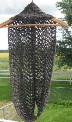 Knit Cowl, Infinity Scarf, Gray Alpaca Wool Cowl for Man or Woman, Circle, Loop…