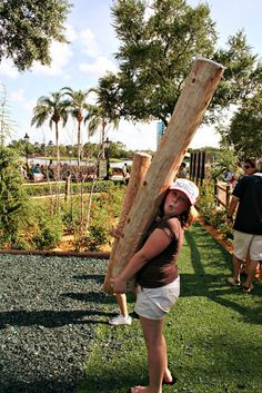 Mini caber toss