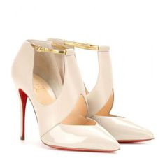 Christian Louboutin - Dictata leather pumps #shoes #christianlouboutin #designer #covetme