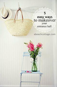 5 Ways to Makeover Hallway Entrance Hall - Beach Decor Blog, Coastal Blog, Coastal Decorating