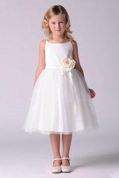 68de8e61af Tulle Spaghetti-Strap Flower Girl Dress Style 101