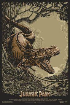 As ilustrações alternativas de pôsteres de filmes de Ken Taylor - Jurassic Park: O Parque dos Dinossauros