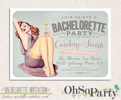 fun and flirty bachelorette party invites | planningitall.com
