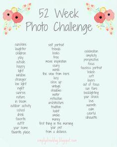 52 Week Photo Challenge, Photography, To help adventure out! Photography Challenge, Photography Lessons, Photography Projects, Creative Photography, Digital Photography, Inspiring Photography, Portrait Photography, Photography Tutorials, Beauty Photography