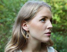 Crystal drop earrings by Rosehip Jewelry on Etsy