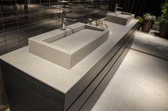 New #Cosmos #iTOPKer Series. Bathroom countertop and basin in #cersaie2015.