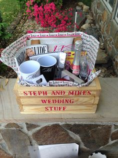 Engagement gift basket for the bride to be | Love Weddings ...