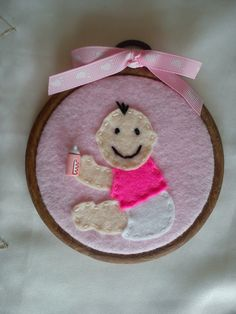 Baby Girl  Felt Hoop Art by DaisyFelts on Etsy, £5.00