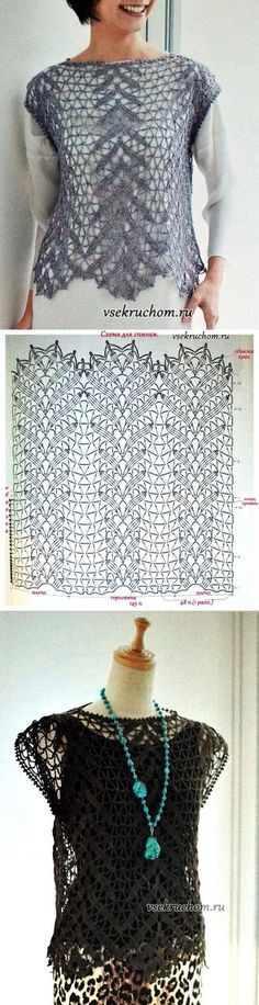 Captivating Crochet a Bodycon Dress Top Ideas. Dazzling Crochet a Bodycon Dress Top Ideas. Crochet Bolero, Gilet Crochet, Crochet Cardigan, Crochet Diagram, Crochet Lace, Crochet Stitches, Crochet Motif, Irish Crochet, Crochet Tops