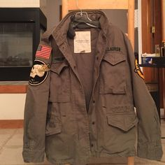 Ralph Lauren army green jacket Ralph Lauren denim & supply. Great condition. Only wore once. Size extra small but fits oversized. Ralph Lauren Jackets & Coats