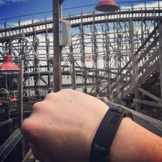 Throwback to Kemah boardwalk and the wooden roller coaster that practically jiggled my brain lose! Action shot with the Engraved USA Flag Paracord Bracelet. Awesome way to always rep your support for this great country. Pick yours up on our website www.flagstiffy.com link in @flagstiffy bio