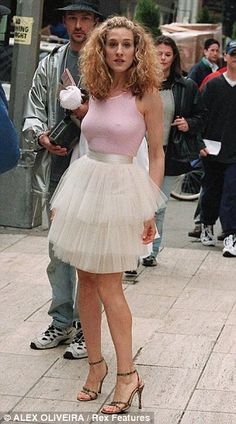 Sarah Jessica Parker's famous pink and ivory tulle outfit from the original Sex and the City