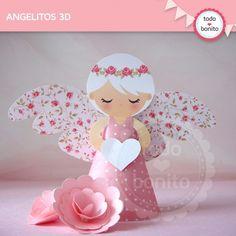 Shabby Chic rosa: angelitos 3D