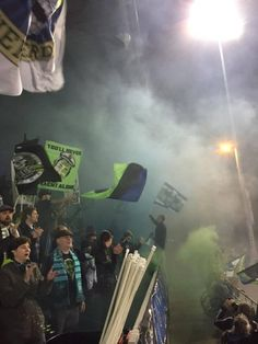 Emerald City Supporters (Seattle Sounders FC) during a (USL) game. D3 Game, Seattle Sounders, Emerald City, Culture, American, Casual, Random, Casual Clothes
