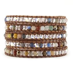 Multi Wrap Bracelet with Crystals on Natural Brown Leather - See more at: http://www.onlinechanluu.com/Multi-Wrap-Bracelet-with-Crystals-on-Natural-Brown-Leather_p-298010.html#sthash.QRmzIkR4.dpuf
