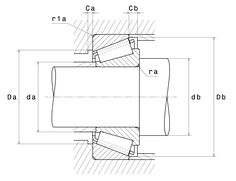 NTN Rulment cu un singur rand de role conice - schita montaj Floor Plans, Floor Plan Drawing, House Floor Plans