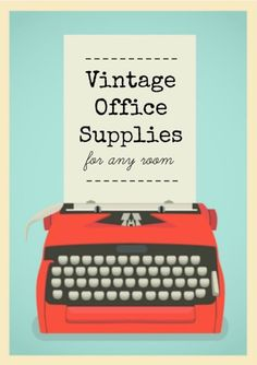 Vintage Office Supplies for any room   Industrial Chic   Rustic   Decorating