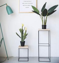 Decorate your home in class modern nordic style with the delightful Nico iron frame geometric side table! Perfect for displaying indoor plants or photo frames. Made from metal. Free Worldwide Shipping & Money-Back Guarantee Hanging Plants Outdoor, Indoor Plants, House Plants Decor, Plant Decor, Geometric Side Table, Corner Table, Metal Furniture, Furniture Ideas, Nordic Style
