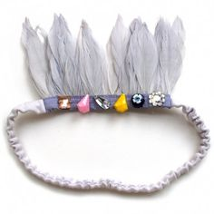 Wovenplay featherband headband crown for dress up and costume play
