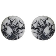 Anzu Jewelry the Big Black Coral Stud Earrings (450 DKK) ❤ liked on Polyvore featuring jewelry, earrings, accessories, piercings, black coral jewelry, black coral earrings, wrap earrings, earrings jewelry and stud earrings