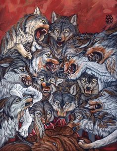 It was the old sketch which I have made in the autumn. I simply wanted to draw something bloody. And I want to warn you if you don't like pictures with this content, don't tell anything about it, p... Snarling Wolf, Wolf Hybrid, Werewolf Art, Vampire, Wolf Tattoos, Anime Wolf, Horror Art, Dark Art, Animal Drawings