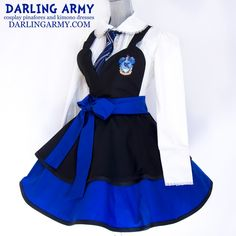 Updated Ravenclaw Hogwarts Houses Cosplay Pinafore by DarlingArmy Cute Cosplay, Cosplay Dress, Cosplay Outfits, Cosplay Costumes, Galaxy Outfit, Fandom Fashion, Full Circle Skirts, Pinafore Dress, Kimono Dress