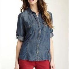 Cloth & Stone  chambray shirt (Anthropologie)