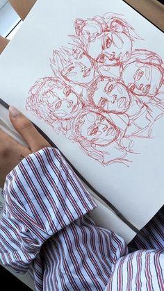 Sketchbook inspiration, art sketchbook, gcse art, a level art, painting &am Illustration Design Graphique, Illustration Art, Art Sketches, Art Drawings, People Drawings, Disney Drawings, Pencil Drawings, Creative Sketches, Arte Sketchbook