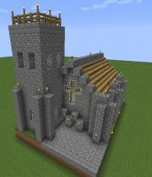 minecraft church medieval village base houses planetminecraft building buildings kingdom stuff projects right front