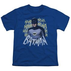 Batman Classic Tv/Theme Song Short Sleeve Youth 18/1 in Royal
