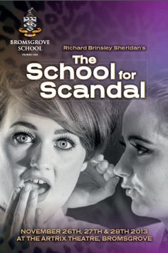 A selection of photographs from the production of 'School for Scandal' last week can now ben viewed online at http://www.bromsgrove-school.co.uk/school-for-scandal-2013/