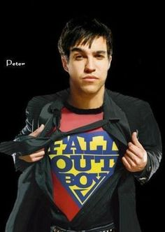 Pete wentz is the superhero of my life and Patrick is the partner In crime