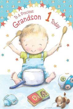 Grandson 1st 2nd 3rd 4th 5th 1 2 3 4 5 Birthday Greeting Card