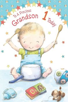 Grandson 1st 2nd 3rd 4th 5th 1 2 3 4 5 #birthday #greeting card with #lovely vers,  View more on the LINK: 	http://www.zeppy.io/product/gb/2/361380876444/