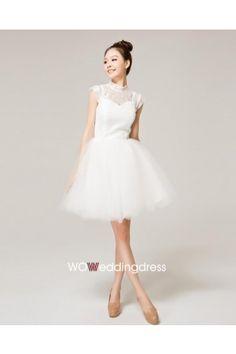 Faddish Bateau Ruffled Lace Wedding Dress