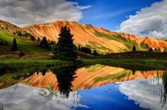 Passo da Montanha Vermelha, Silverton, Colorado