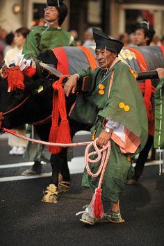 Jidai Matsuri ceremonial ox cart, Kyoto
